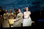 Donna Lynne Champlin as Jane Austen and Laura Osnes as Elizabeth Bennet