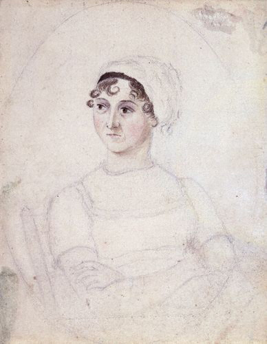 Portrait of Jane Austen (pencil and watercolour), drawn by her sister Cassandra, c. 1810. National Portrait Gallery, London.