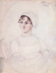 Watercolor of Jane Austen by Cassandra Austen